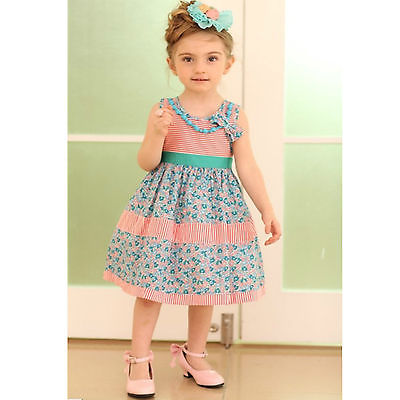 6669a21ef26 ...  9130 Rose Kelly baby cotton Dress kids party dress s 2 3 4 5 6   ...