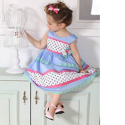 ed59066d9e8  9105 Rose Kelly baby cotton Dress kids party dress s 2 3 4 5 6