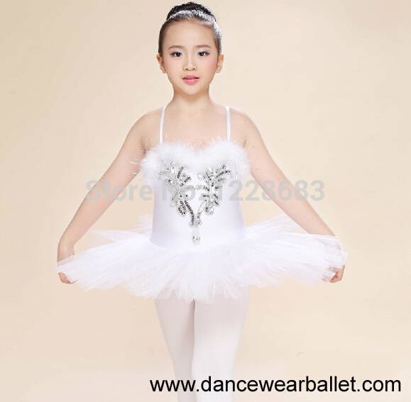 450027930827 New Sequin Pancake Tutu White Swan Lake Ballet Costume Girls Ballerina  Dress Kids Danse Classique Balet Girls Ballet Tutu